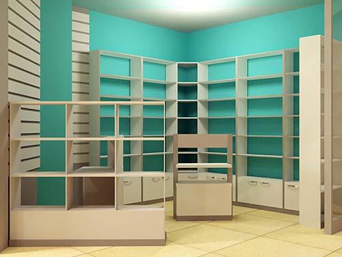 проект торговой мебели для магазина
