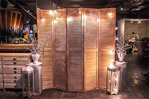 деревянная жалюзийная ширма