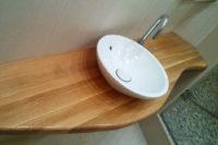 столешница для ванной из дерева