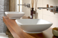 столешница для ванной из массива