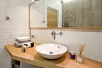 столешница для ванной из массива дерева
