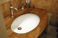 столешница в ванную из дерева
