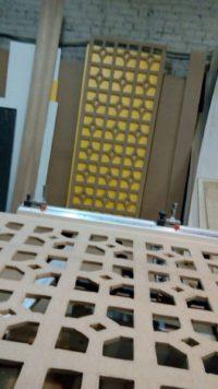 производство ажурной перегородки
