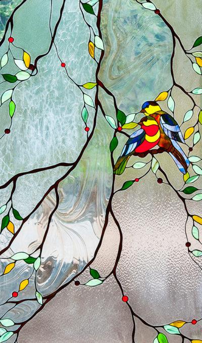 оконный витраж Тиффани Птицы