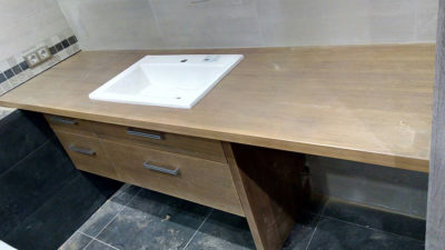 дубовая столешница для ванной