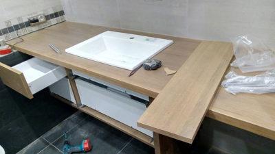 сборка деревянной тумба для ванной