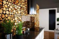 деревянные панели для кухни