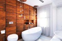 деревянные панели для ванной