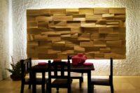 стеновая панель из слэба дерева