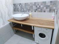 столешница для ванной из слэба карагача